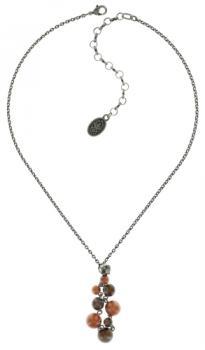 Konplott Halskette Caviar de Luxe Braun Anhänger