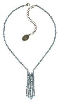 Konplott Halskette Graphic Flow blau Y