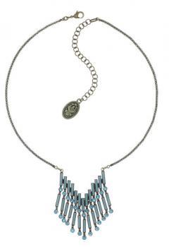 Konplott Halskette Graphic Flow blau