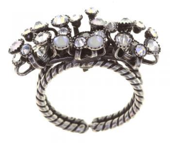 Konplott Ring Alien Caviar weiß schmal