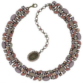 Konplott Halskette Dance with Navette Beige Collier