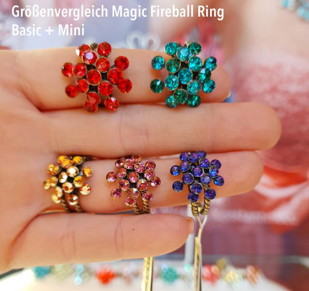 Konplott Ring Magic Fireball Blau Lila klein